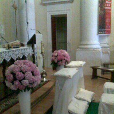 addobbi fiori altare porto recanati