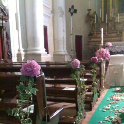 composizione fiori chiesa ancona